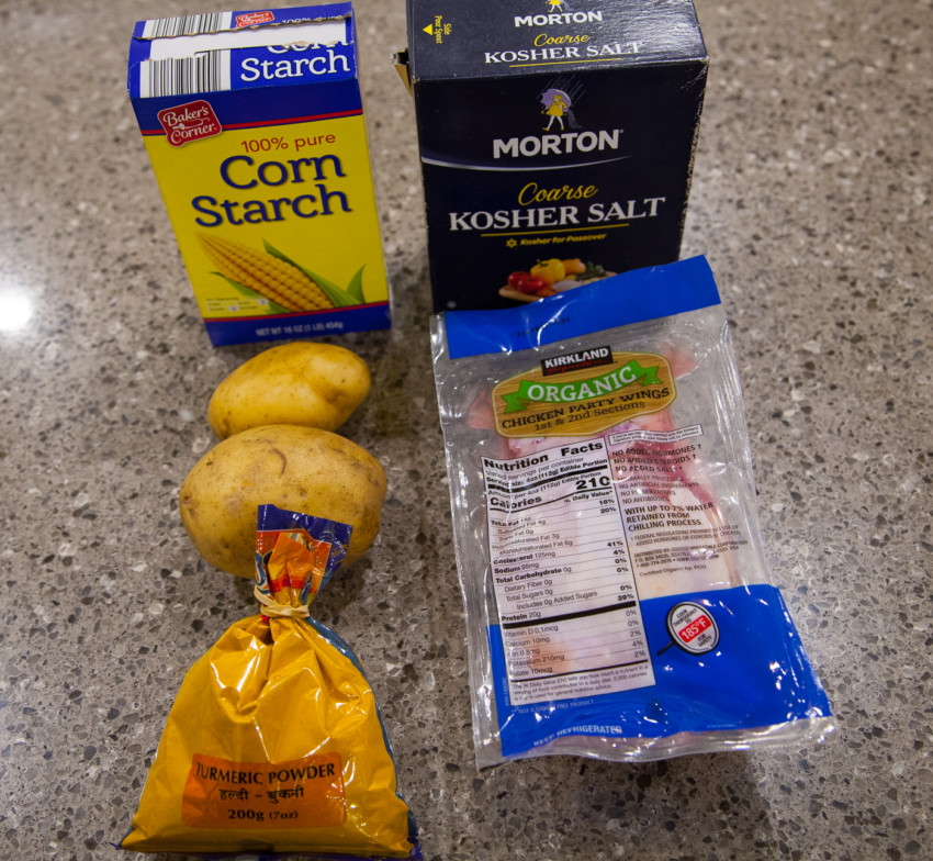 Curry Chicken Wings - Ingredients