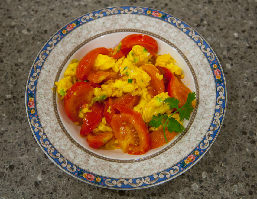 Stir-fried Tomatoes and Scrambled Eggs - Finished