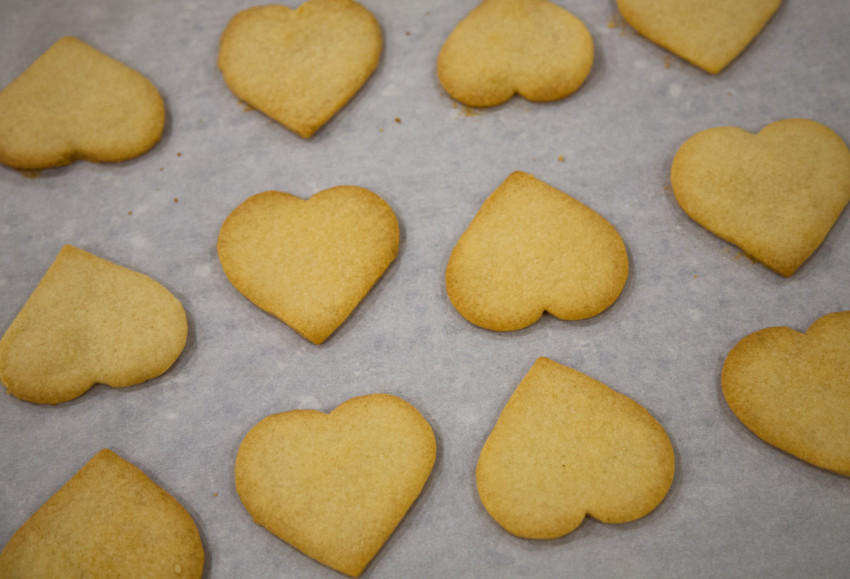DIY Valentine's Day Shortbread Heart-Shaped Cookies - Preparation